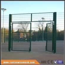 galvanized double leaf mesh fence swing gate