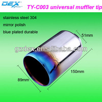 Factory price High performance car universal muffler stainless steel exhaust tip