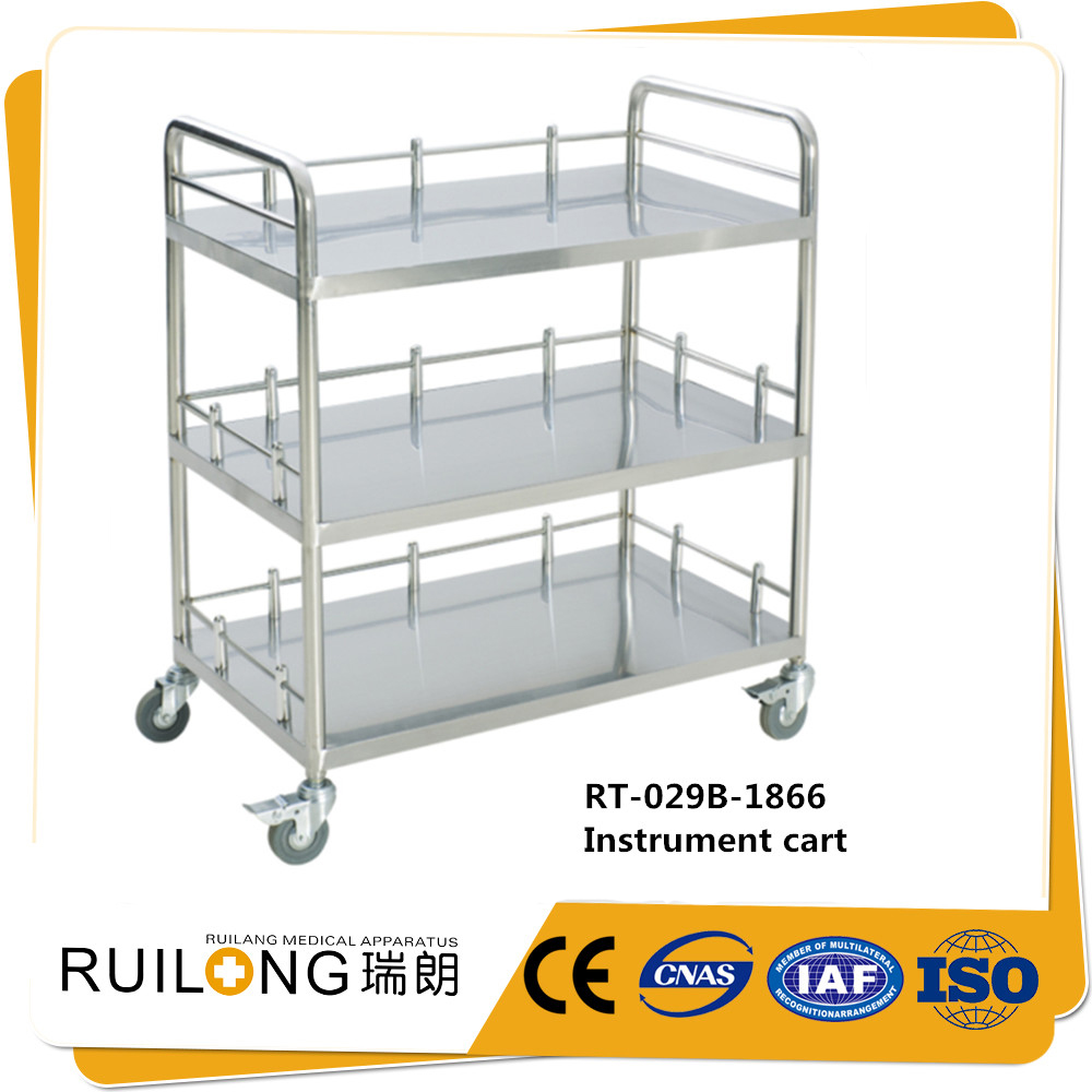 cheap new product stainless steel hospital medical rolling carts