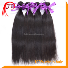 Feibin virgin hair vendors paypal accept,long lasting tangle and shed free natural color Indian straight hair