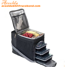 Insulated Meal Management & Prep Lunch Bag, Travel Cooler Comes With 6 Individual Containers To Organize Your Packed Meals