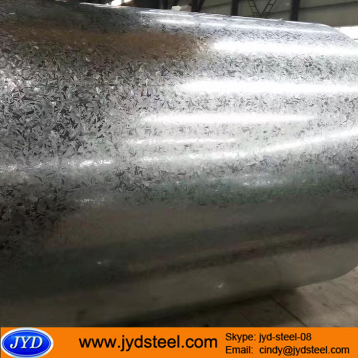 Dry treatment galvanized steel roll zinc coating steel with regular spangle