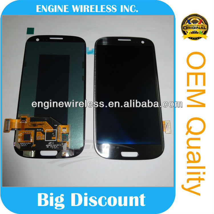 mobile phones lcd screen repair for galaxy s3 lcd with touch digitizer,factory refurbished