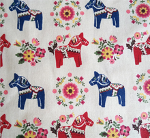 IDY handmade pony printed linen fabric for pillow/curtain/sofa sets/tablecloth