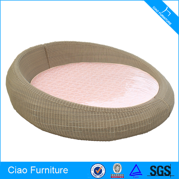New product hotel furniture large size wicker sleeping bed
