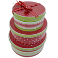 metal material food grade round cookie tin sets