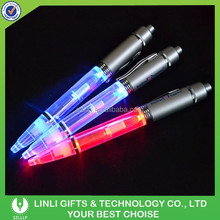 Promotional Gift Metal OEM Logo Led Light Pen Writing In The Dark