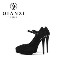 D587 Brand designer ladies office pumps fashion high heel shoes with platform