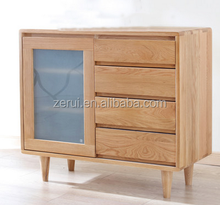 Oak furniture solid wood natural color small sideboard 04