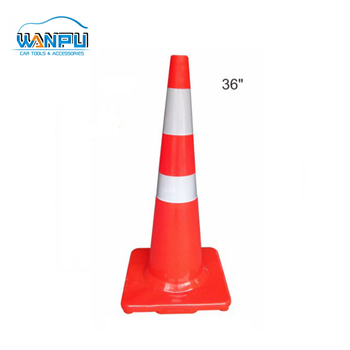 Reflective 90cm foldable collapsible Warning PVC Traffic Cone