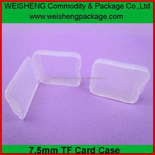 Top Quality transparent clear plastic folding sd storage case large capacity pp sd card packaging case