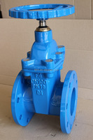 non rising stem resilient seated cast iron gate valve/jinbin valve