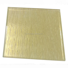 6+6mm thick decorative laminated glass with wire mesh or fabric, frosted tempered safety glass