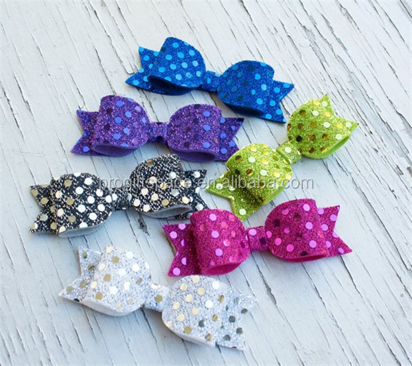 2017 Felt Glitter Sequence Bows decoration made in China