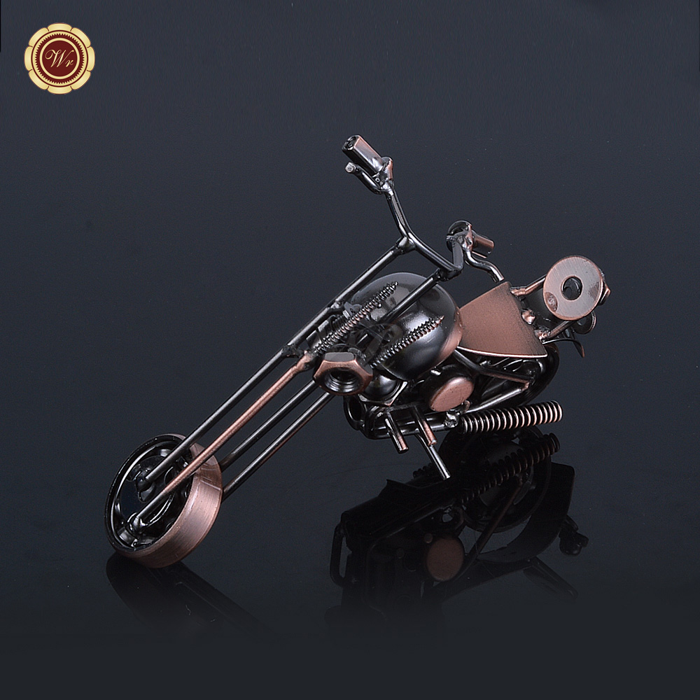 WR Iron Morotbike Model Creative Handmade Motorcycle Model Toys Metal Motorbike Model Toy For Men Gift Home Decor