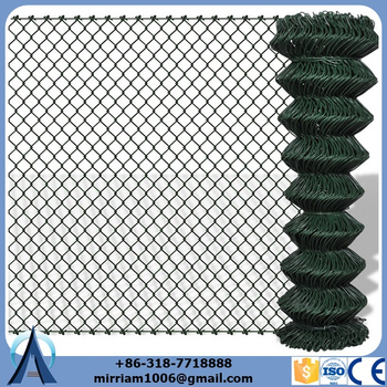 "60"" X 50' NEW TREND 9 GAUGE GREEN VINYL CHAINLINK"