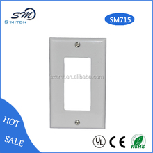 Retailer high quality new type faceplate single port clear faceplates