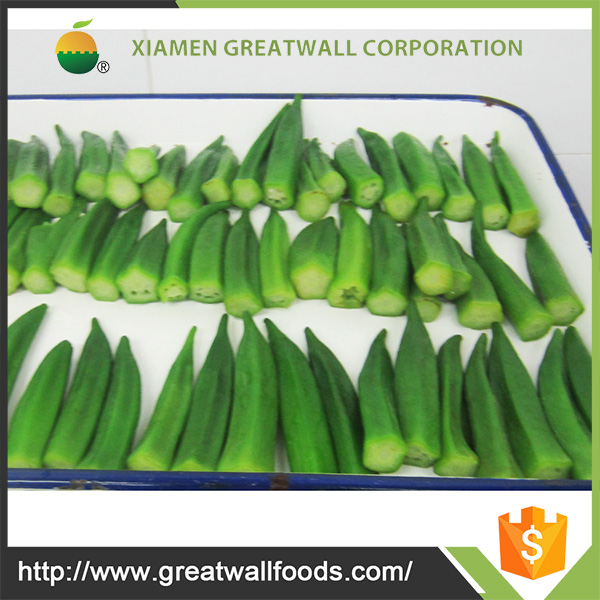 Good quality frozen okra spear and cut with best price