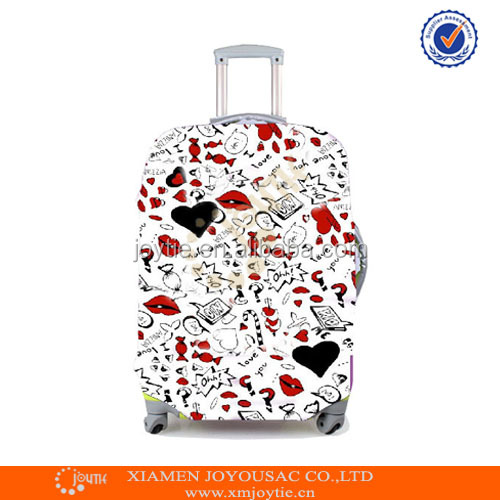 spandex protective fastion waterproof existing printed luggage cover