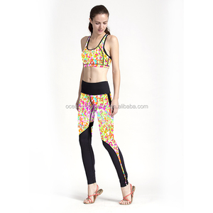 Sport Yoga Set Women Gym Clothing 3D Print Fitness Suit Female Summer Running Gym sportswear