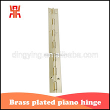 Custom made long brass piano hinges