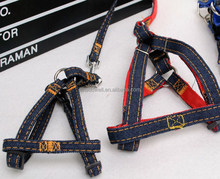 Jean pet dog leash, pet dog collar, pet dog harness