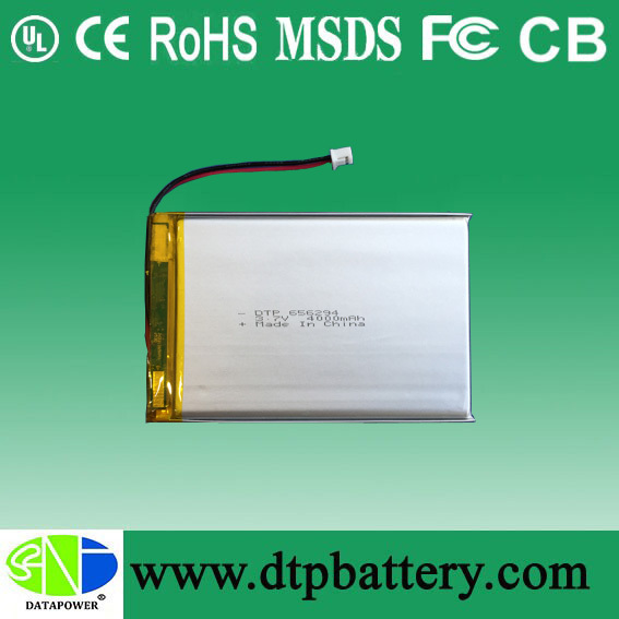 KC model 656294 3.7V 4000mAh lithium rechargeable battery for scooter