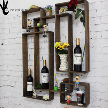 Pan wood wine rack wooden decorative wall wine plate rack wooden storage cabinet
