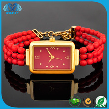 Alibaba Hot Products 3 Layer Bead Wathch, Women Watch Gift Set