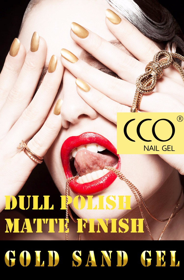 CCO high quality nail polish odorless aled light easy nail art gold sand gel uv gel,gel nail polish