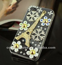The Eiffel Tower Bling Hard back Case for iphone 4 4s