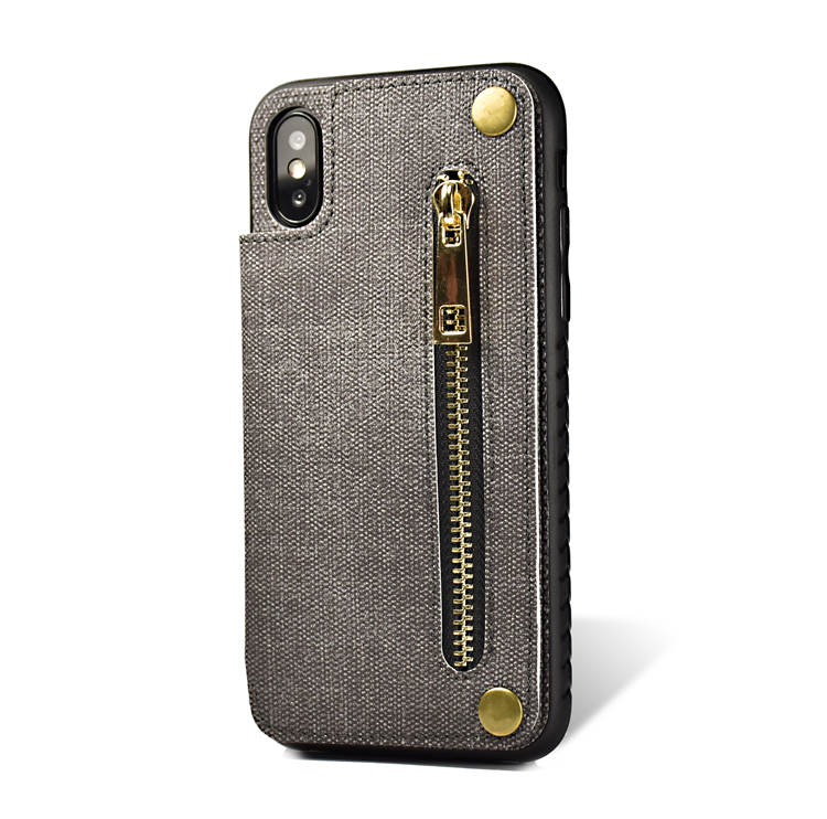 Hot Product zipper pouch skin leather card slot for iphone 6 wallet flip case