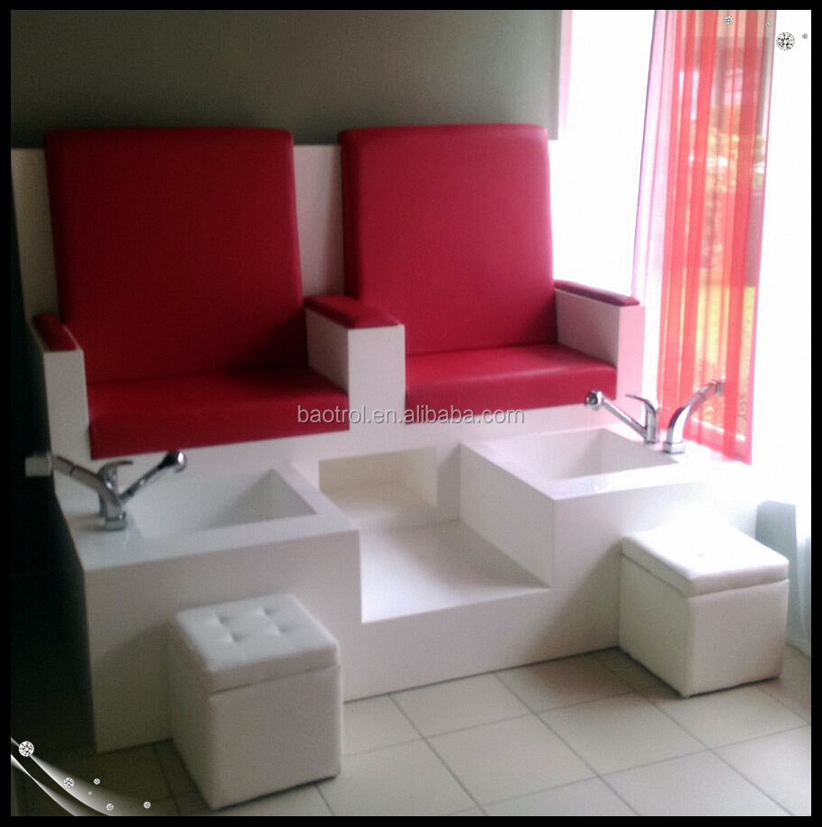 Modern Pedicure Chair Of Nail Salon Furniture 4 Seat Wood Pedicure Chair Buy 4 Seat Pedicure
