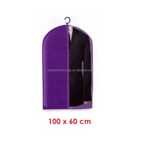 New Cheap Promotional Non-woven Foldable Garment Bag Suit Cover With Window