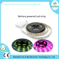 Battery Powered 5050 LED Strip Light Kit WaterProof RGB SMD LED Strip