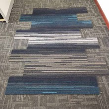 PP decorative floor tiles colorful stripe decoration plank carpet rectangle tiles