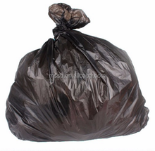 100% Black HDPE garbage bag trash bag on roll