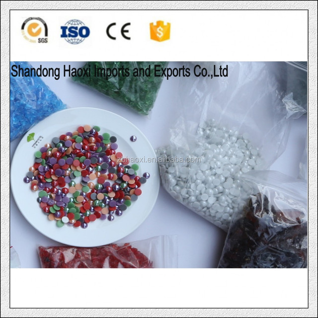 Half round color ceramic beads