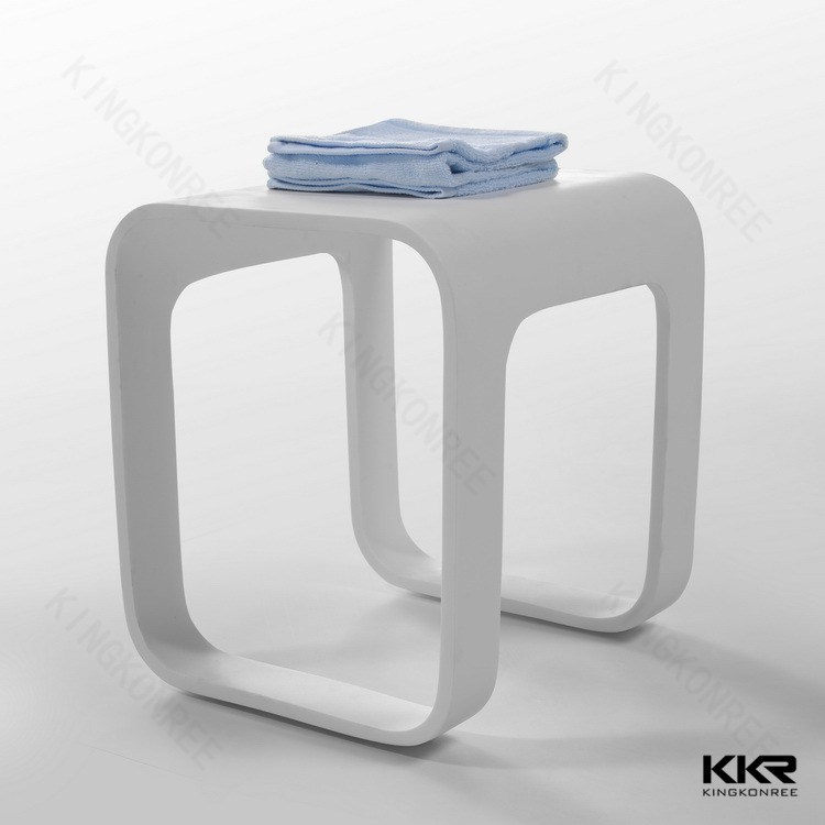 China manufacturer acrylic stone vanity stool, bathroom toilet stool