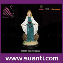 Lady of Immaculate - Virgin Mary - Hand-painted in traditional colors