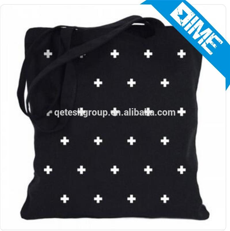 China Wholesale High Quality Black Organic Star Cotton Tote Bag With Handled