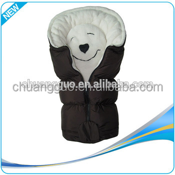 Soft Animal Anti-Bacterial Stroller Super Soft Organic Baby Sleeping Bag