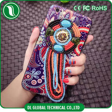 New launch mobile 2016 for iphone 7 case back cover Chinese style totem design crystal stone mobile cover uv phone case