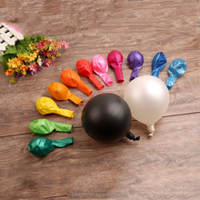 wholesale colorful inflatable helium latex round metallic balloons