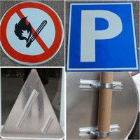 China manufacture of arabic safety signs/road safety sign board