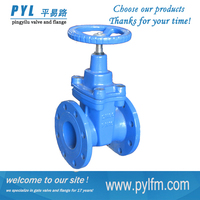 [PYL]non-rising stainless steel stem soft seal gate valve with price