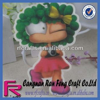 Cartoon Girl Car Freshener Paper