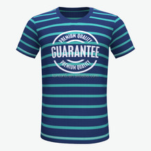 Custom free design wholesale striped t-shirt,sublimation fashion tshirts