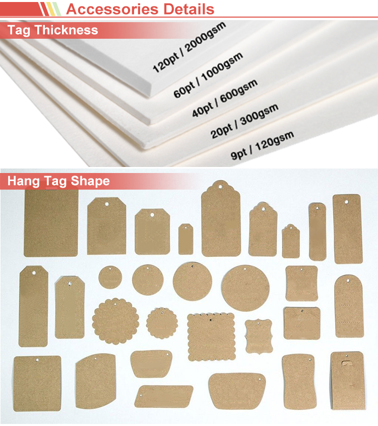 Custom Kraft Paper Hole Punch Hang Tags