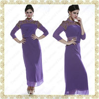 Transend 10461 Latest Trendy design muslim women long sleeve kaftan dress